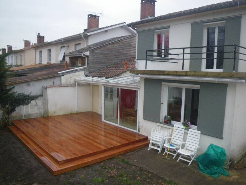 amenagement terrasse bois bouscat